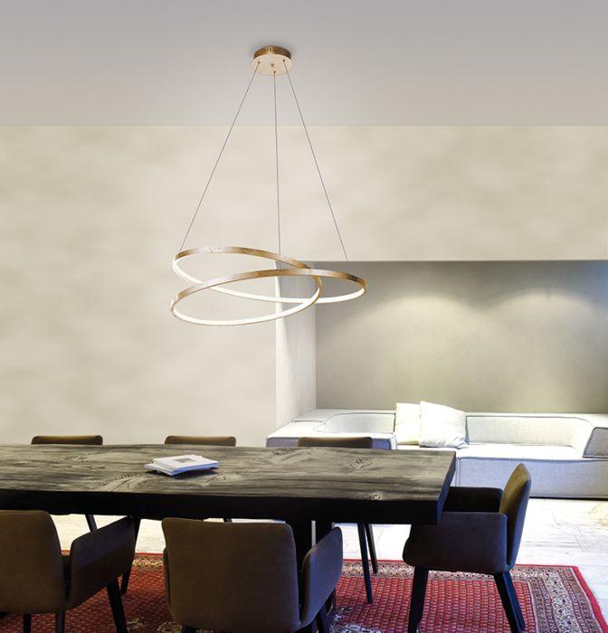 Design-hængende-lampe-guld-72-cm-inkl.-LED-dæmpbar---Rowan