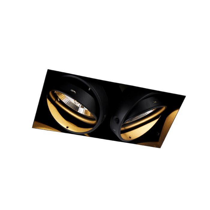 Indbygget-spot-sort-2-lys-GU10-AR111-Trimless---Oneon