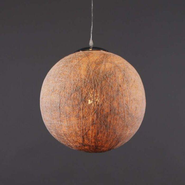 Hængelampe-Hamp-40-hvid