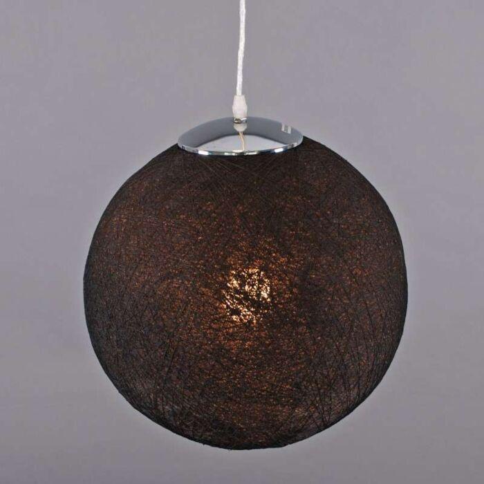 Hængelampe-Hamp-35-sort
