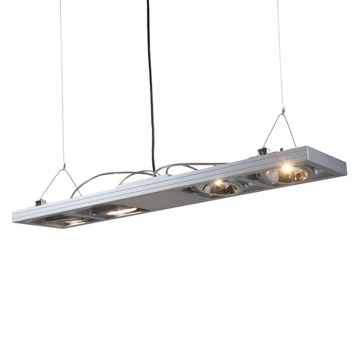 Hængelampe-Kardan-4-lang-aluminium