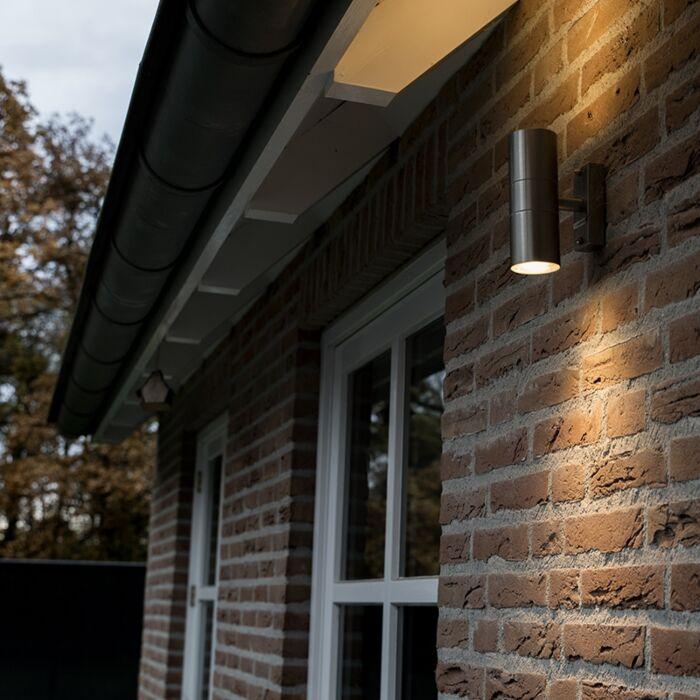 Udendørslampe-Duo-stål