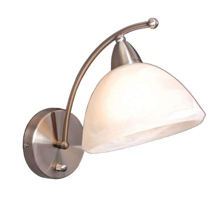 Væglampe-Firenze-stål