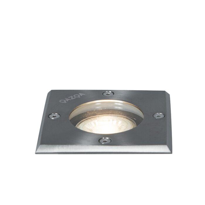Jordpletstål-10,5-cm-IP65---Basic-Square
