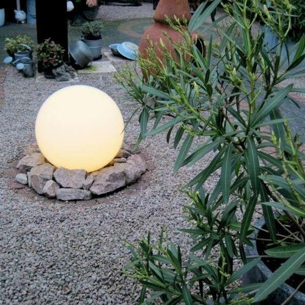 Udendørslampe-med-jordspids-50-cm-IP44---Kugle