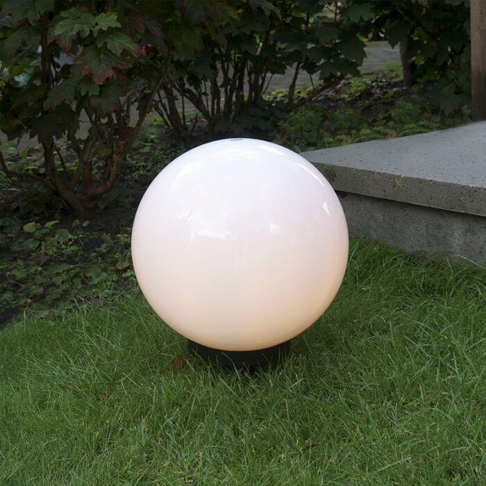 Moderne-udendørslampe-med-jordspids-30-cm-IP44---Kugle