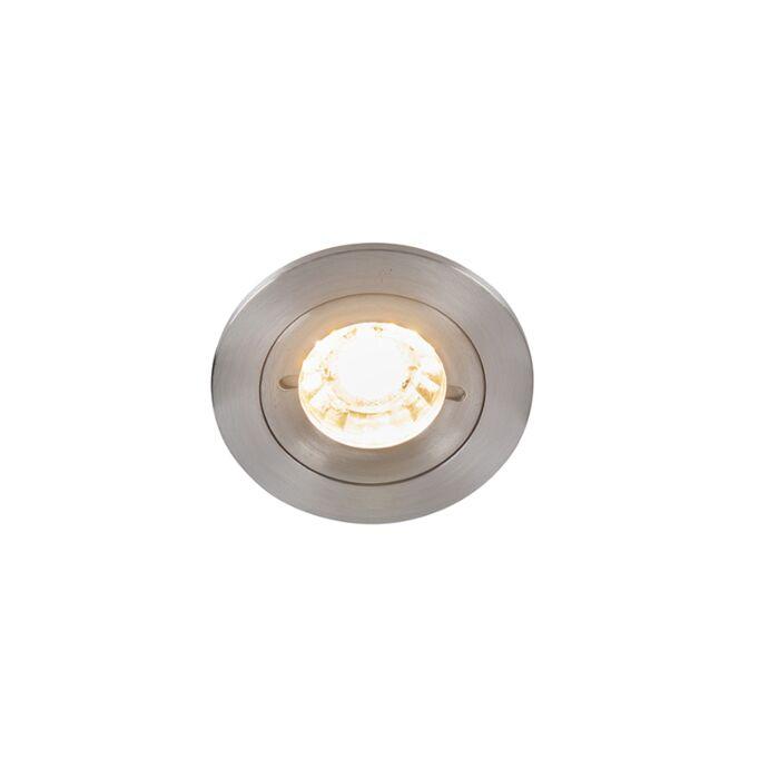 Moderne-forsænket-spot-aluminium-IP44---Xena-Round