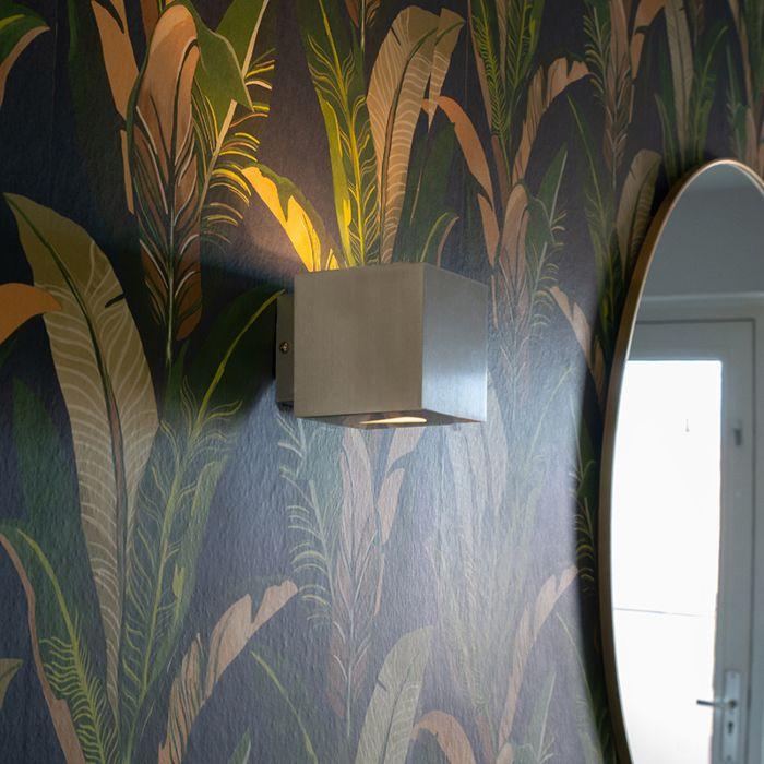 Moderne-væglampe-aluminium-firkantet---Effekt