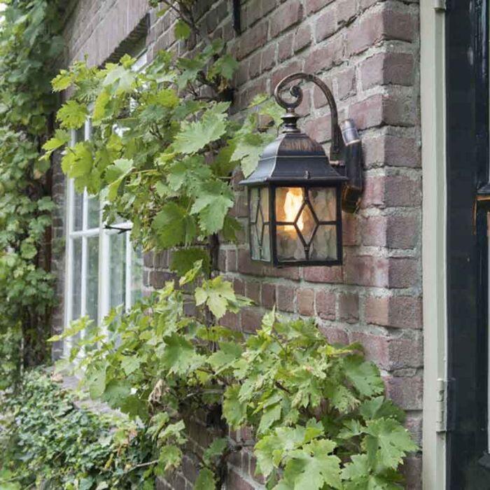 Romantisk-udendørs-væglanterne-bronze---London
