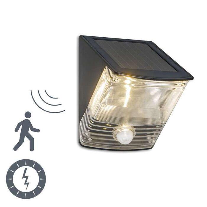 Udendørslampe-Mørk-LED-med-solbevægelsesdetektor