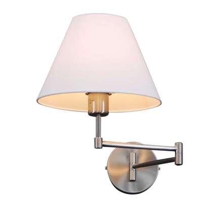 Væglampe-Svingstål-med-skærm