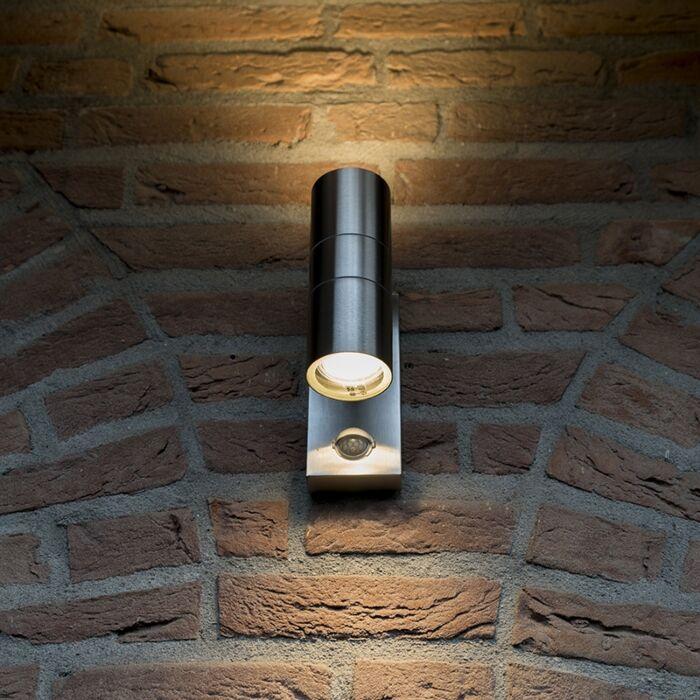 Udendørslampe-Duo-IR-stål