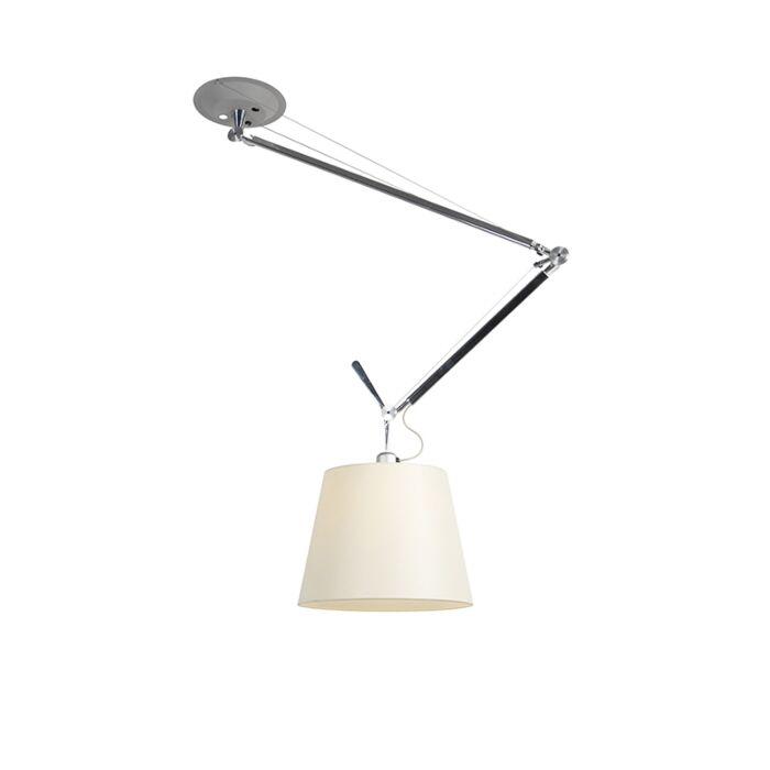Design-hængende-lampe-med-skærm---Artemide-Tolomeo-Sospensione-Decentrata