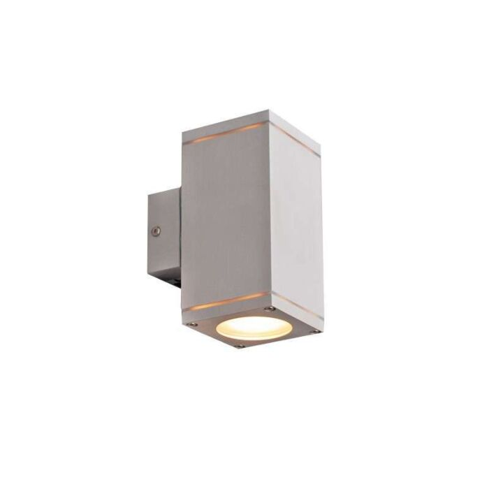 Udendørslampe-Quadro-up-down-aluminium