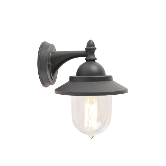 Romantisk-udendørs-væglampe-mørkegrå---Oxford