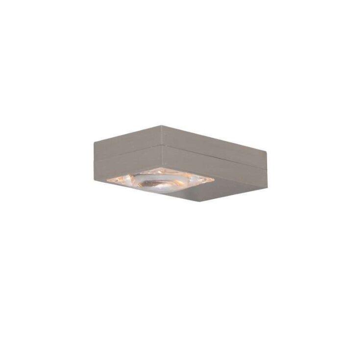 Væglampe-Focus-stål
