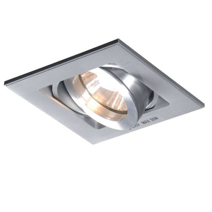Forsænket-spot-Quadro-1-aluminium