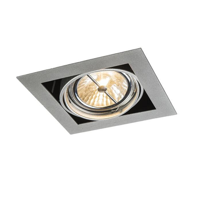 Forsænket-spot-aluminium-firkantet-justerbar-1-lys---Oneon-111-1
