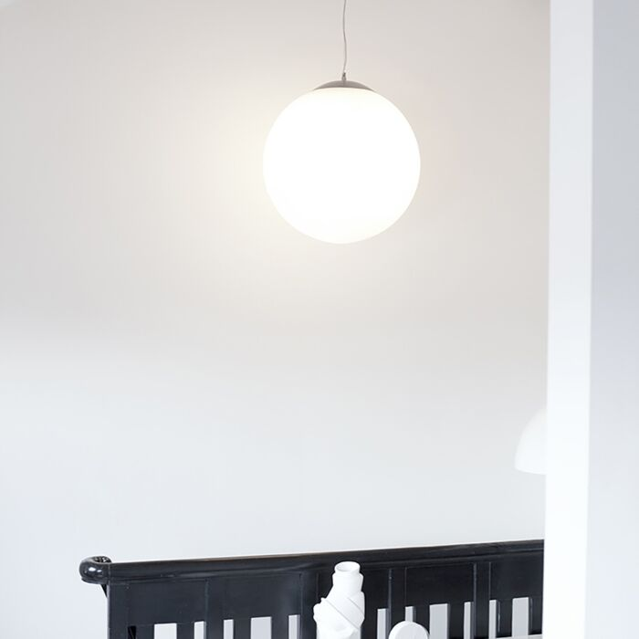 Skandinavisk-hængende-lampe-opalglas-50cm---Kugle-50