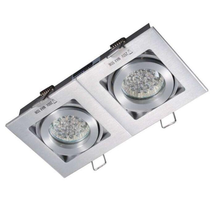 Indbygget-spot-Quadro-2-aluminium