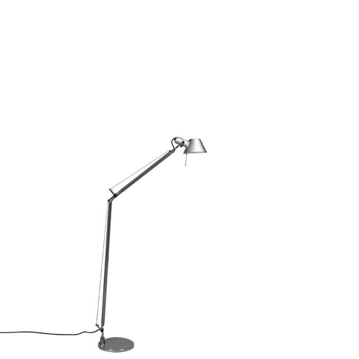 Artemide-gulvlampe-justerbar-i-aluminium---Artemide-Tolomeo-Lettura