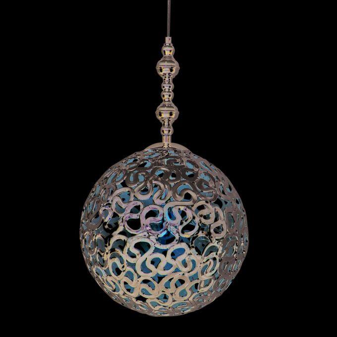 Hængelampe-Farao-40-krom