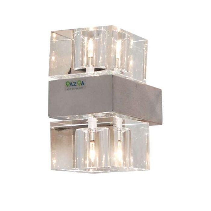 Væglampe-Terning-2-krom