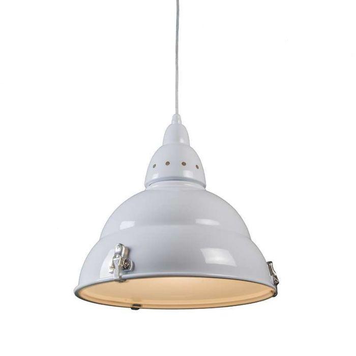 Hængelampe-Fabrikshvid