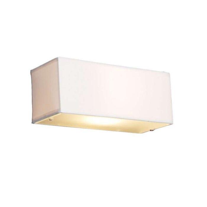Moderne-væglampe-rektangulær-hvid---Tromme