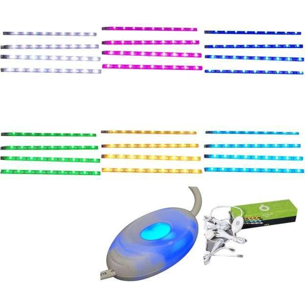 Sæt-med-fire-LED-strips-RGB