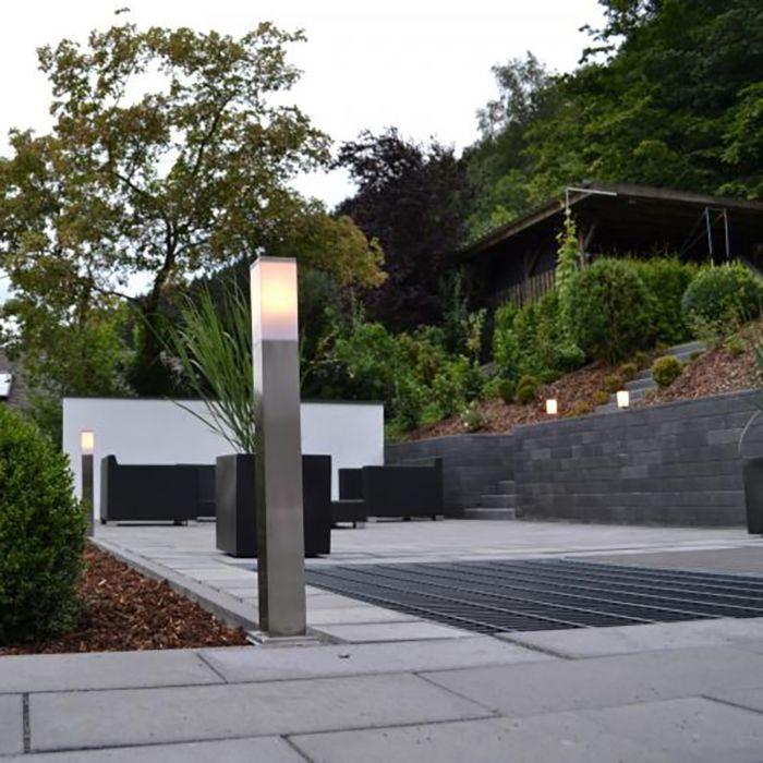 Moderne-udendørslampe-80-cm-stål---Malios