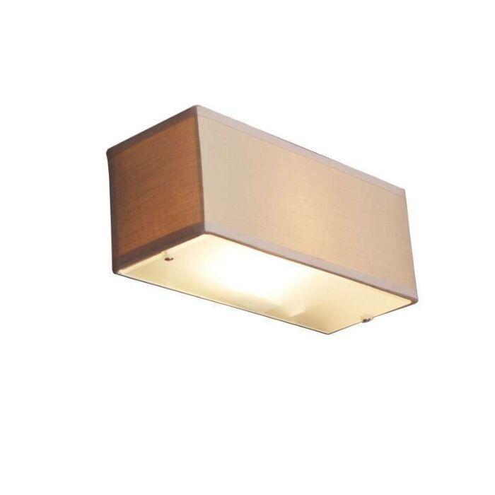 Væglampe-Tromme-rektangel-beige