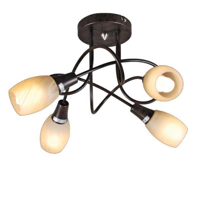 Loftlampe-Andrea-4-rustbrun