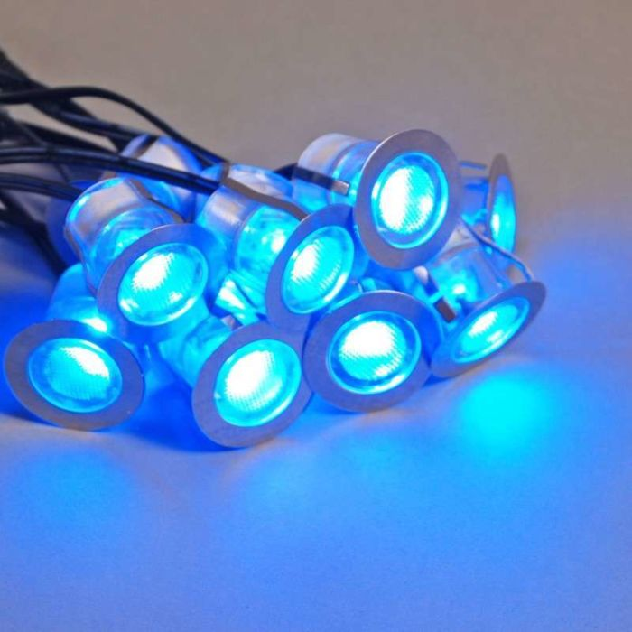 Komo-LED-installationssæt-med-10-stykker-IP65-blå