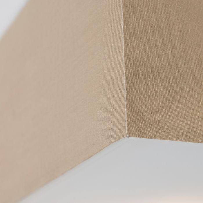 Moderne-firkantet-loftslampe-beige-35cm---Tromme