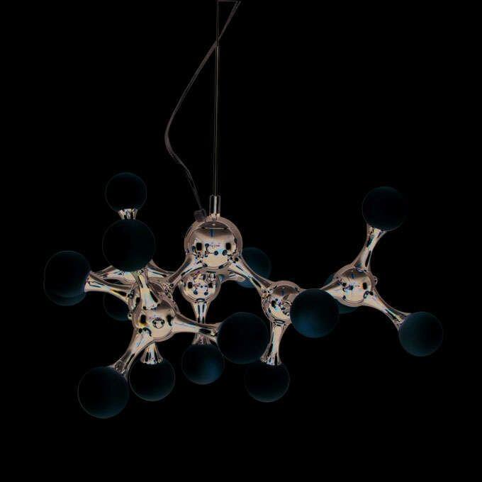 Hængelampe-Globo-mini-15-krom