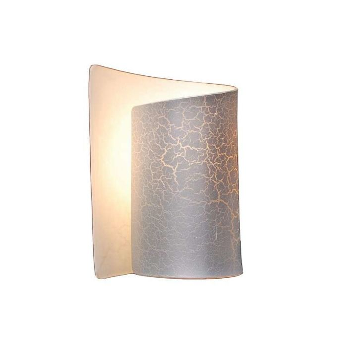 Væglampe-Salerno-sølv