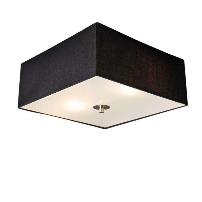 Loftlampe-Tromme-35-firkantet-sort