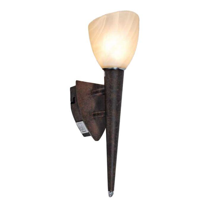 Væglampe-Skærm-rustbrun