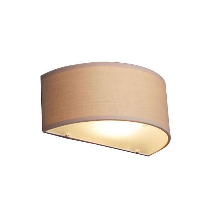 Væglampe-Drum-halv-rund-beige