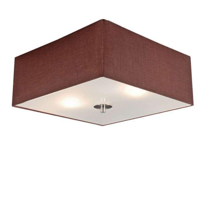 Loftlampe-Tromme-35-firkantet-brun