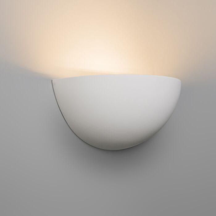 Moderne-væglampe-hvid-gips---Gipsy