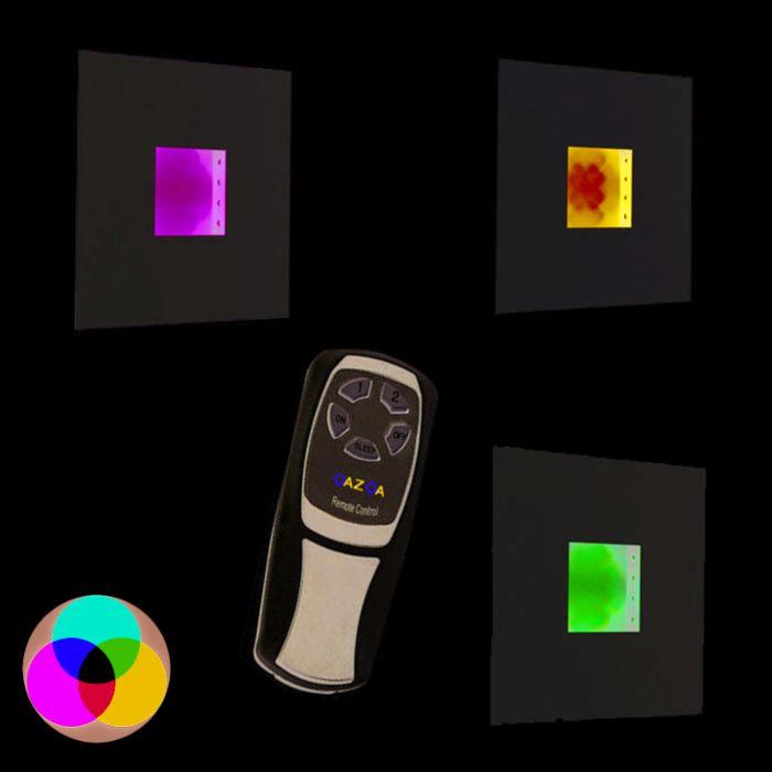 Væglampe-Plade-RGB-LED-hvid