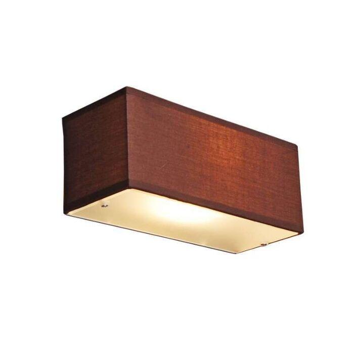 Væglampe-Tromle-rektangel-brun