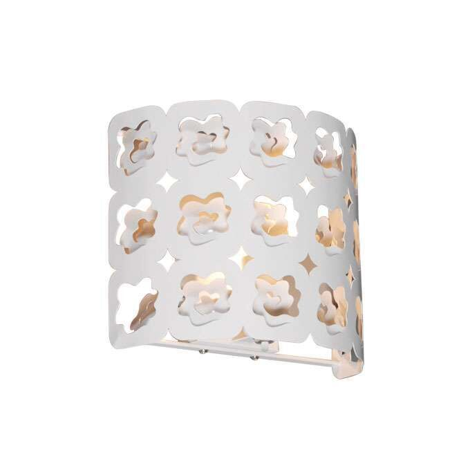 Væglampe-Rose-hvid