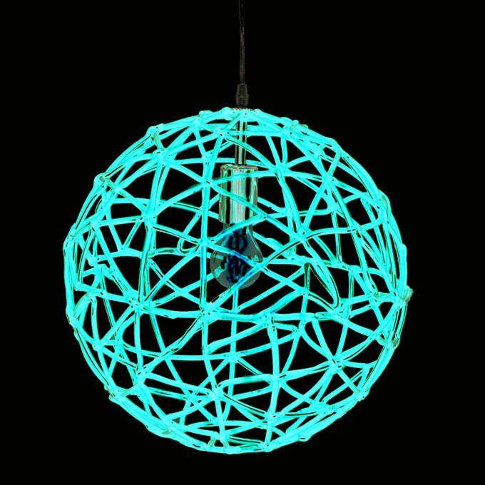 Hængelampe-Birdy-40-rød