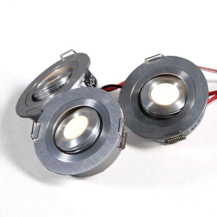 Lumiled-indbygget-sæt-af-3-x-1W-aluminium