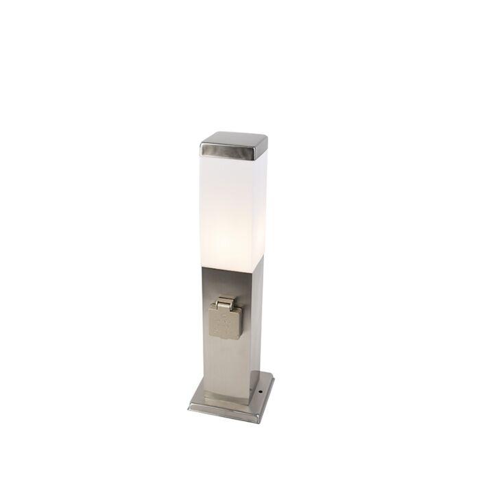 Moderne-udendørs-lampe-45-cm-stål-med-fatning-IP44---Malios