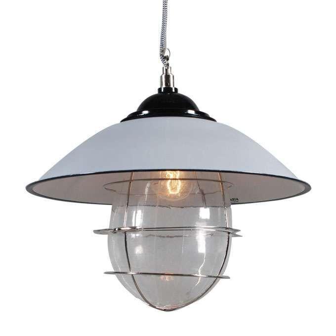Hængelampe-Skipper-grå