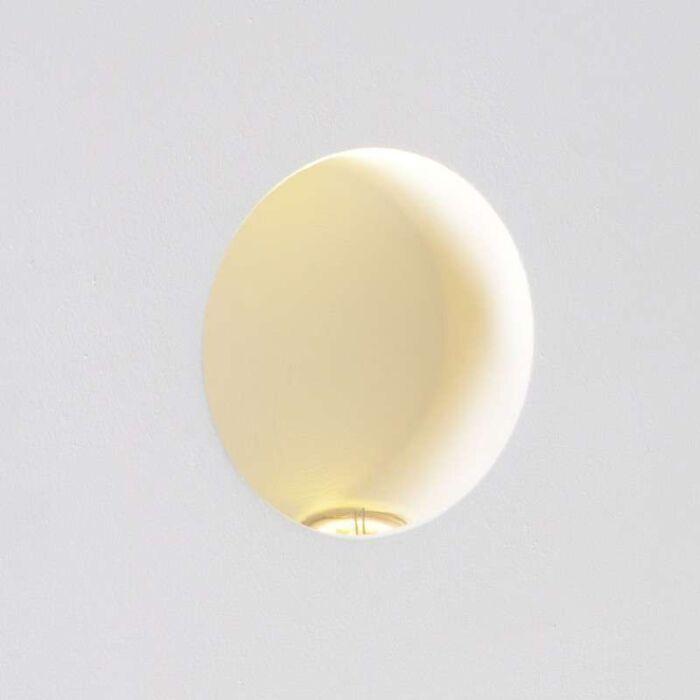 Væglampe-Nul-rund-LED-forsænket